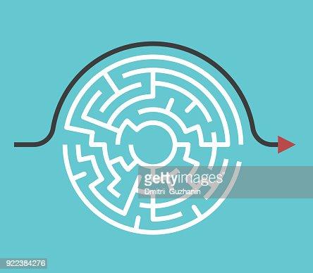 Circular maze, bypass route : Arte vetorial