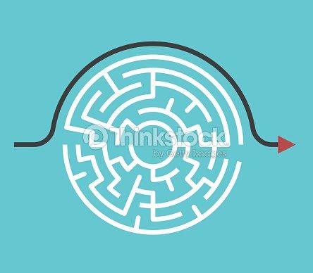 Circular maze, bypass route : stock vector