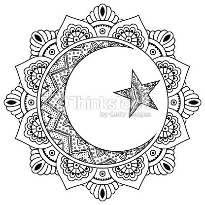 A Circular Pattern In The Form Of A Mandalareligious Islamic Symbol