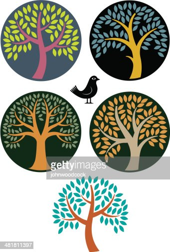 Circular Tree Symbols Vector Art Getty Images