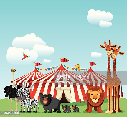 Circus and Animals : Arte vettoriale