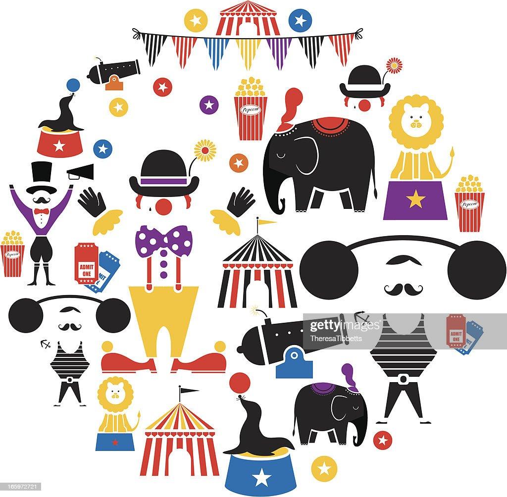 Circus Icon Set : Vector Art