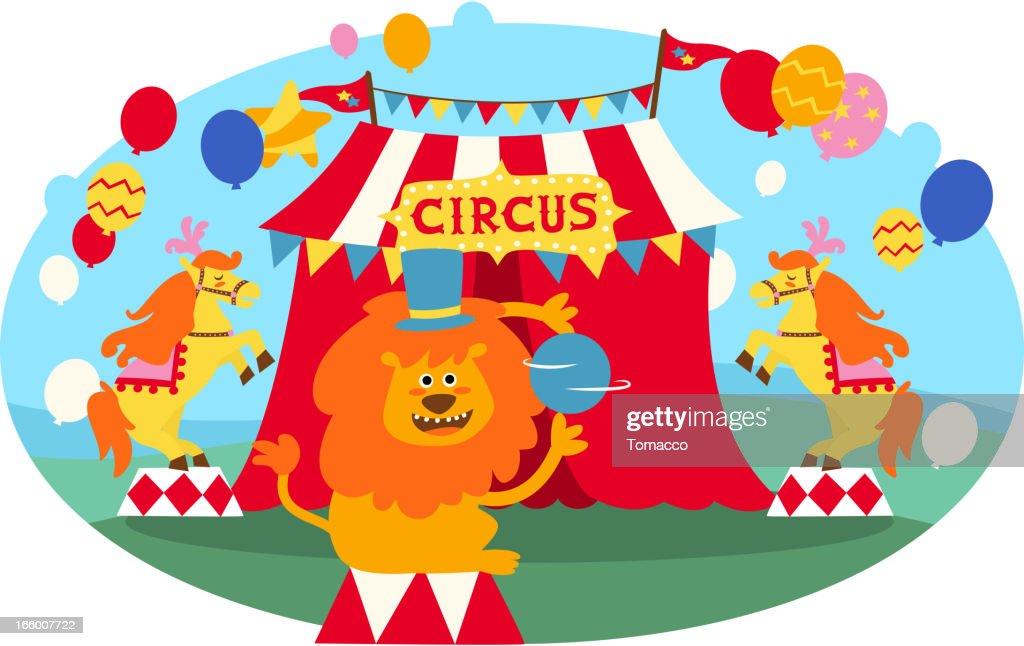 Circus Lion : Vector Art