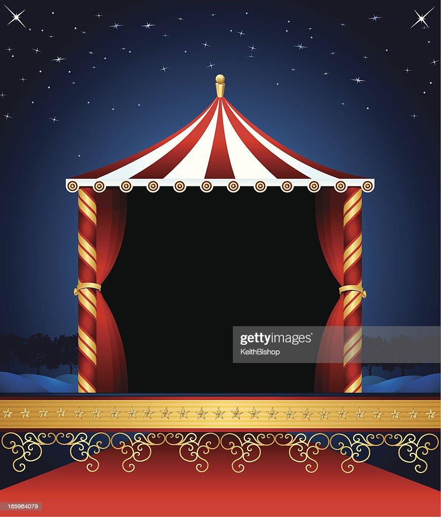 Circus Tent Background : Vector Art