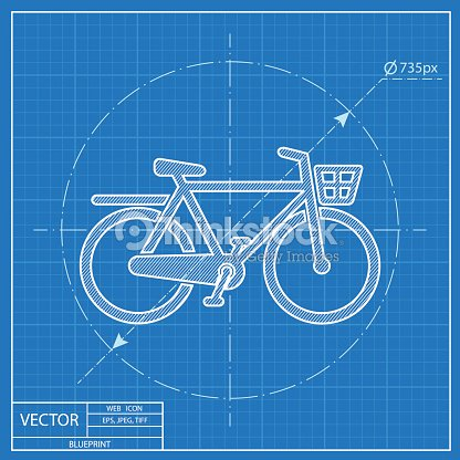 City bicycle vector blueprint icon vector art thinkstock city bicycle vector blueprint icon vector art malvernweather