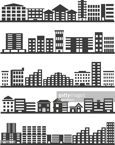 City icons set