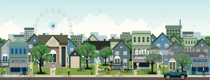 City life : Vector Art
