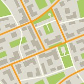 City Map seamless pattern. Simple flat illustration of repeatable city plan with streets.
