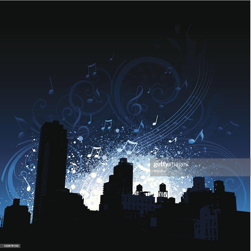 City music background : Vector Art