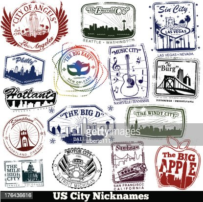 us city nickname stamps vector art getty images. Black Bedroom Furniture Sets. Home Design Ideas