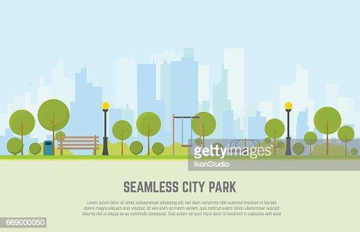 City park seamless background : stock vector