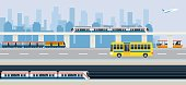 Bus, Train, Skytrain, Metro, Boat and Airplane
