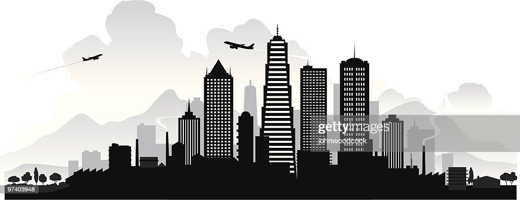 City skyline : Vector Art