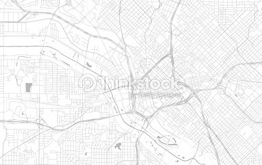 City Street Map Of Dallas Texas Usa Vrgrafik - Thinkstock on