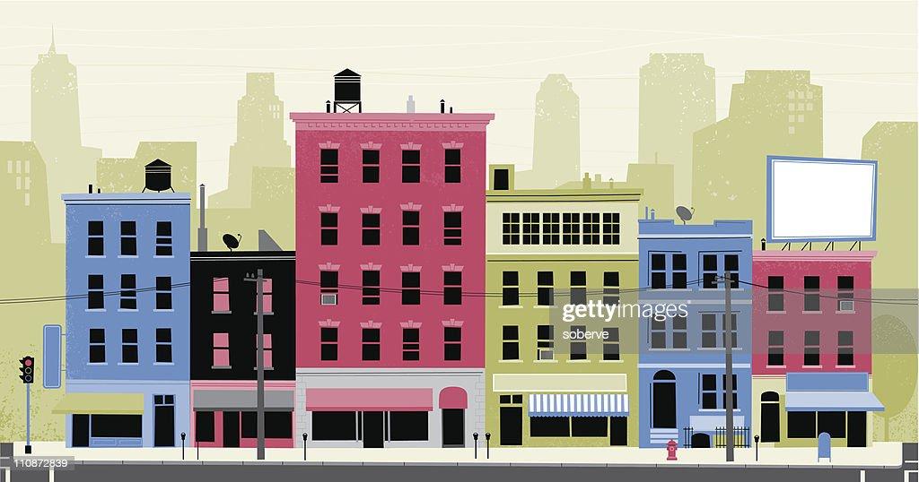 City Street : Vector Art