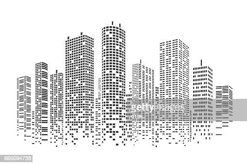 Stadt, die stilisierten Hintergrund : Vektorgrafik