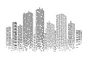 City stylized background in vector