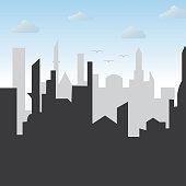 silhouette city landscape