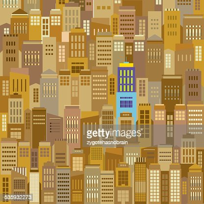 Cityscape With Outstanding Building Vector Illustration : Vector Art