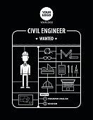 Civil Engineer wanted Recruitment Advertising plastic model kit