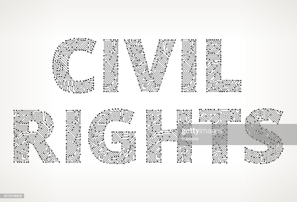 Civil Rights Circuit Board Vector Buttons Vector Art   Getty Images