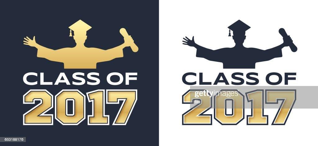 Classe de Graduation de 2017 : Clipart vectoriel