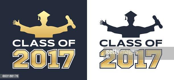 Class of 2017 Graduation : Vector Art