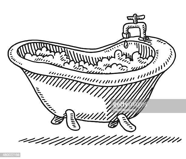 illustrations et dessins anim s de baignoire getty images. Black Bedroom Furniture Sets. Home Design Ideas