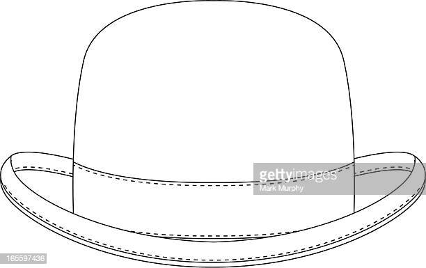 Classic Bowler Hat Template