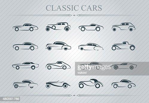 Classic cars : Vector Art