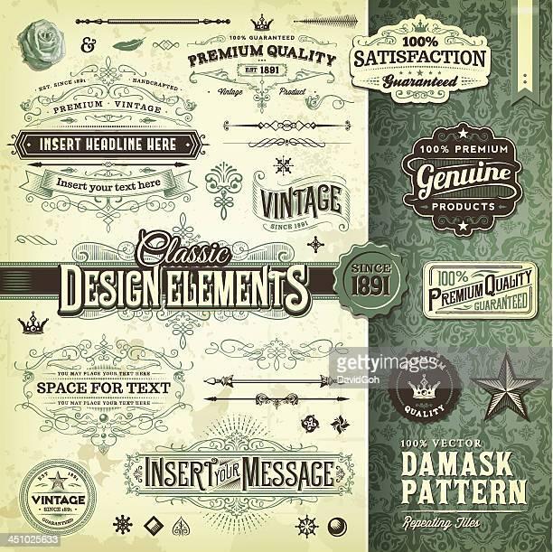 Klassische Design-Elemente-Toolkit
