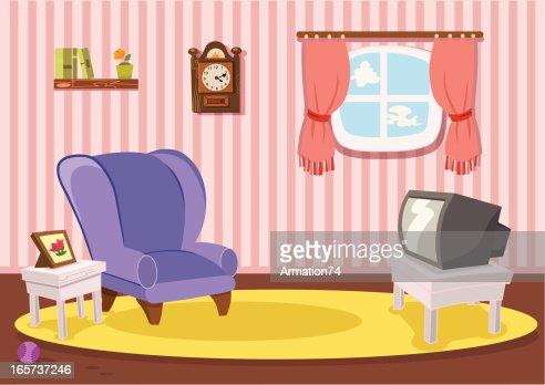 Klassische wohnzimmer vektorgrafik getty images for Wohnzimmer clipart