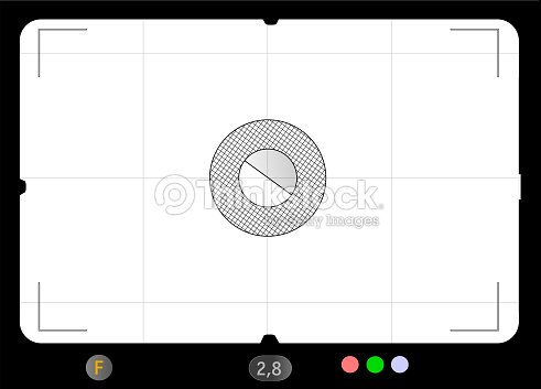 Classic SLR viewfinder, with free space for your pics, vector : stock vector