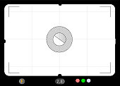 Classic SLR viewfinder, with free space for your pics, vector. Fictional illustration artwork
