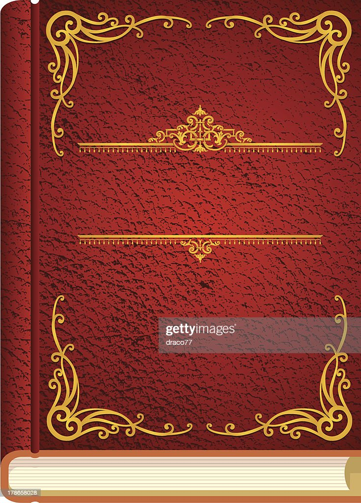 Drawing Book Cover Vector : Classic story book cover vector art getty images