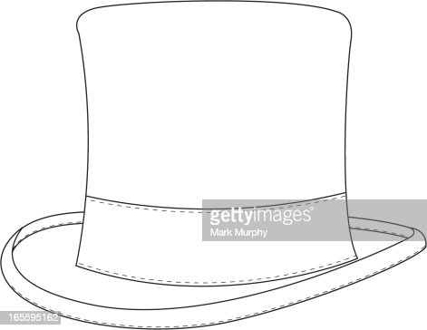 classic top hat template vector art getty images