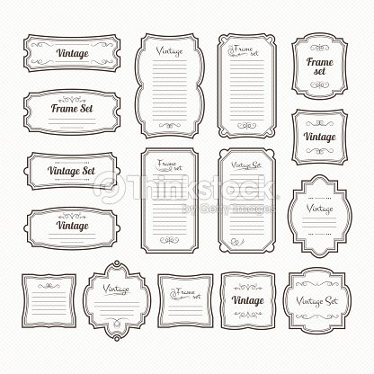 classic vintage frames set vector borders isolate on white vector