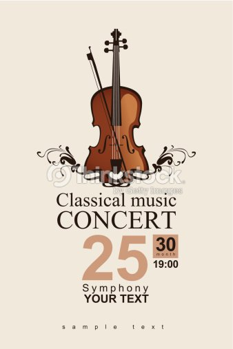 a classical concert invite template vector art