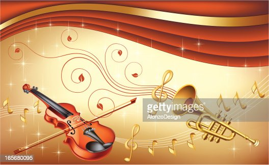 Classical Music Wallpaper: Classical Music Background Vector Art