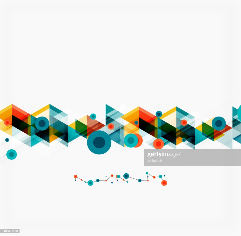 Clean colorful unusual geometric pattern design : Vector Art