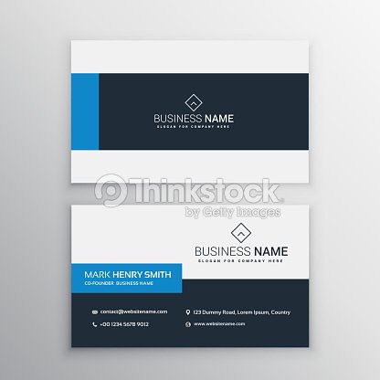 Clean Minimal Business Card Template Clipart Vectoriel Thinkstock