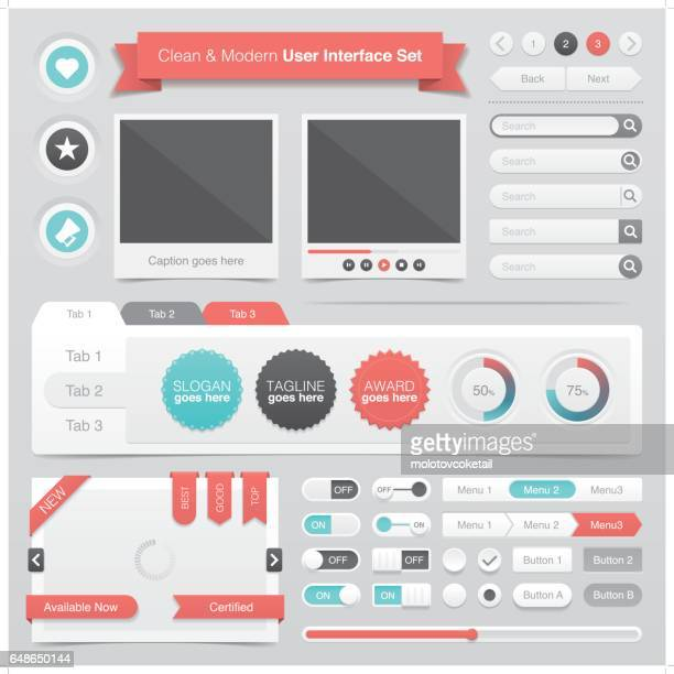 clean & modern graphical user interface set