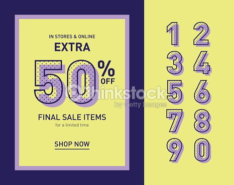 clean trendy sale banner template flat vector ベクトルアート