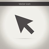 Clean modern isolated vector cursor symbol icon