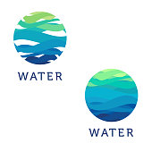 Clean water. Vector abstract design element. Water circle. Vector illustration