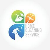 an amazing cleaning service business symbol illustration
