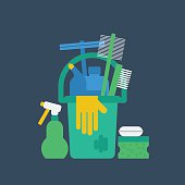 Cleanung service, flat design