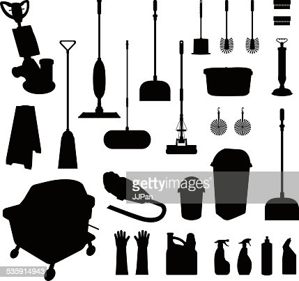 Utensílios de limpeza : Arte vetorial