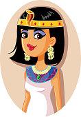 Halloween  woman wearing an  Egyptian queen costume