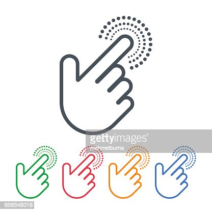 Click icons with hand cursors vector design. Pointer symbols. : stock vector
